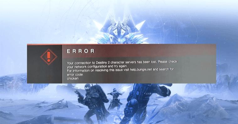 Destiny 2: How to Fix Error Code Chicken