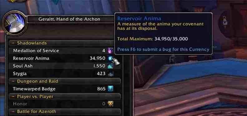 World of Warcraft Shadowlands: How to Increase your Daily Anima