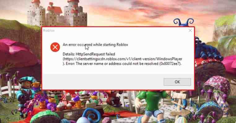 Roblox: How to Fix An error occurred while starting