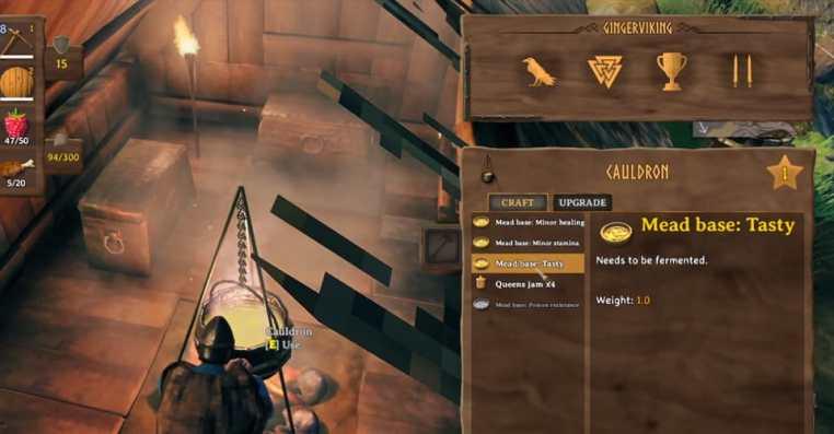 Valheim Cauldron: How to Make Mead