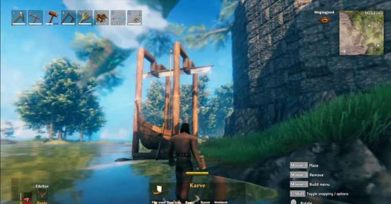 Valheim: How To Make A Boat Swing