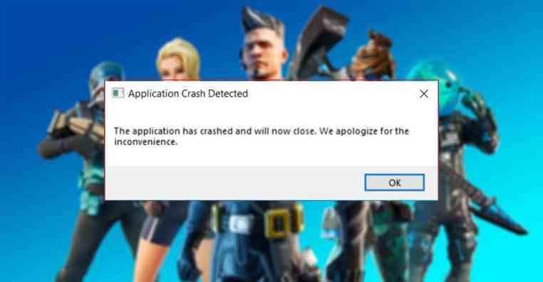 Fortnite: How to Fix Application Crash Detected