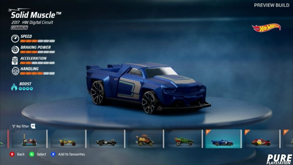 hot wheels unleashed car selection screen