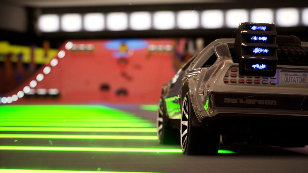 hot wheels unleashed back to the future car