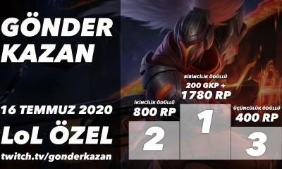 Gönder Kazan'da Bu Akşam: Toplam Ödül 2980 RP + 200 GKP