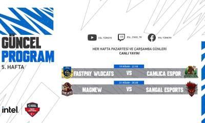 INTEL ESL Türkiye CS:GO Şampiyonası 5. hafta başlıyor