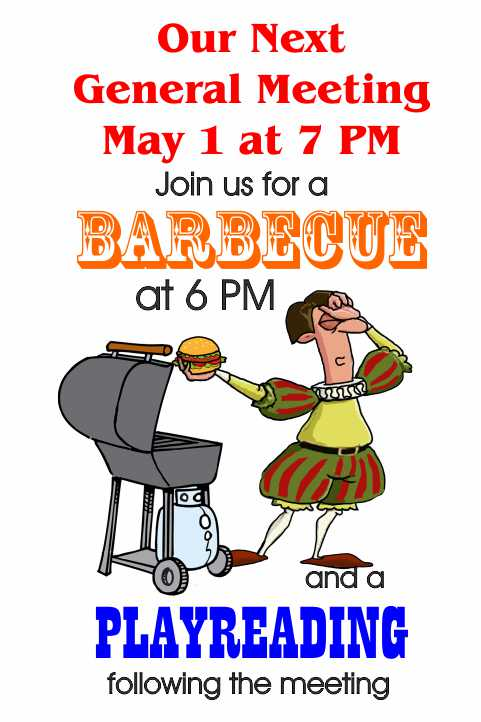 General Meeting, BBQ and Playreading