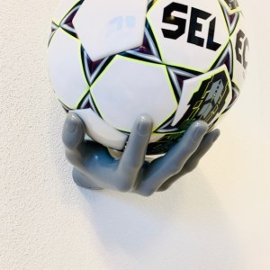 1 stk Boldhånd Fodboldholder i Grå