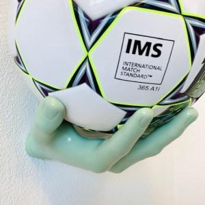1 stk Ballhand Fodboldholder i Grøn
