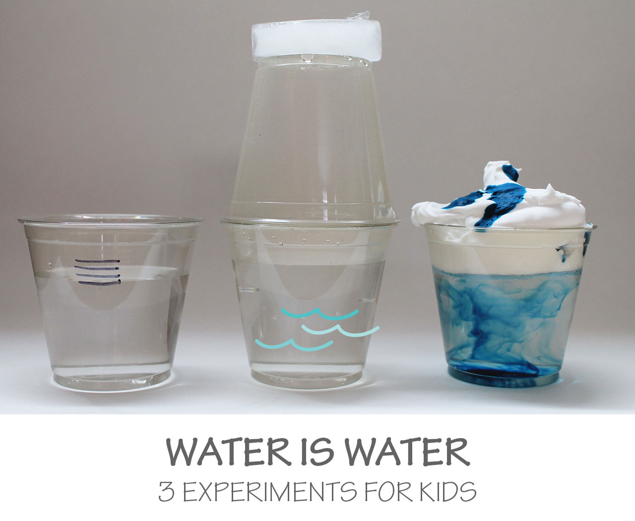 Water Is Water 3 Experiments For Kids