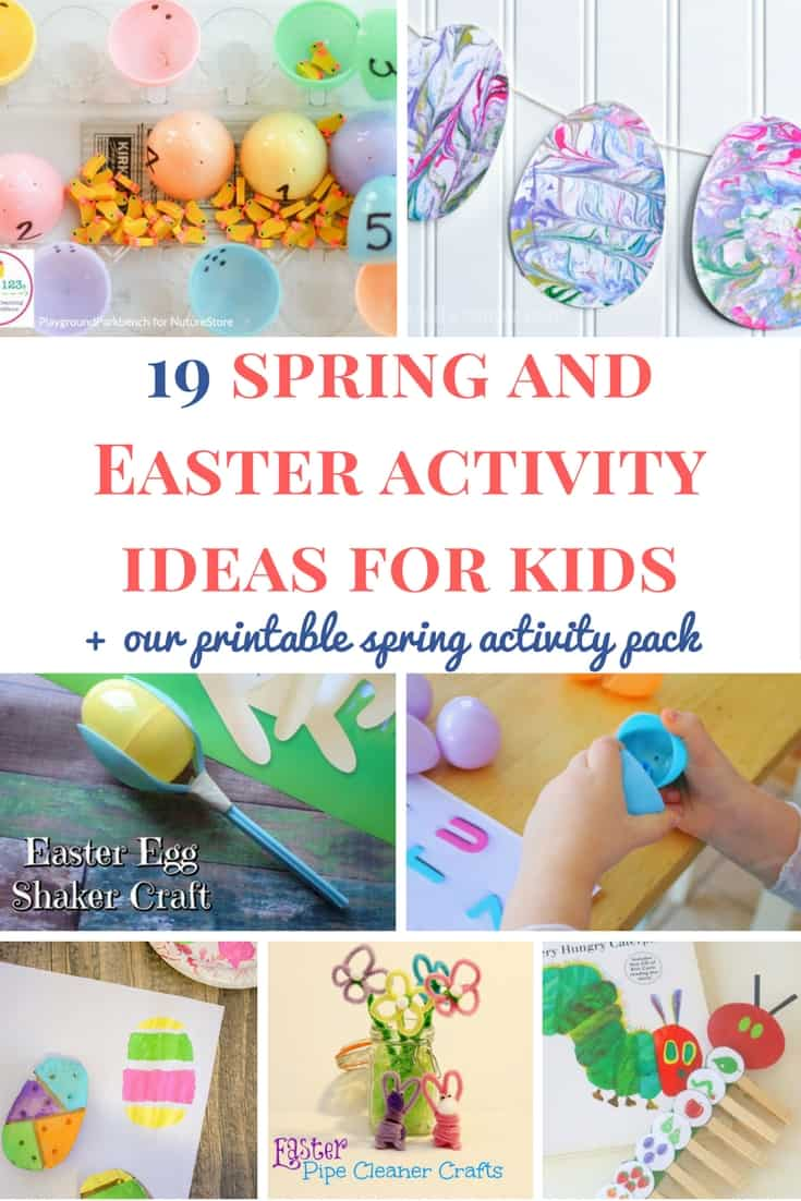 Spring and Easter activities for kids: Are you looking for some great spring activity ideas for young kids? Here are our favorite ones and our free printable spring activity pack! | Spring activity ideas for toddlers and preschoolers