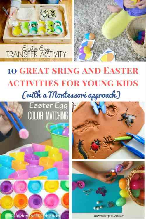 Montessori spring activities for young kids | Montessori spring activities for toddlers | Montessori spring activities for preschoolers | Montessori Easter activities | Spring activities for kids | Easter activities for kids