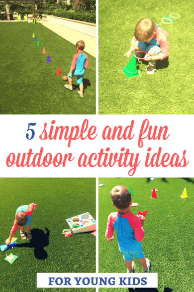 Outdoor activities for kids: If you are looking for some fun outdoor activity ideas for young kids, here are 5 ideas that are really easy to prepare! Kids will certainly enjoy them! | Outdoor activity ideas | Outdoor activity ideas for toddlers | Outdoor activity ideas for preschoolers | Outdoor activities for kids | Gross motor activities | Outdoor games for kids