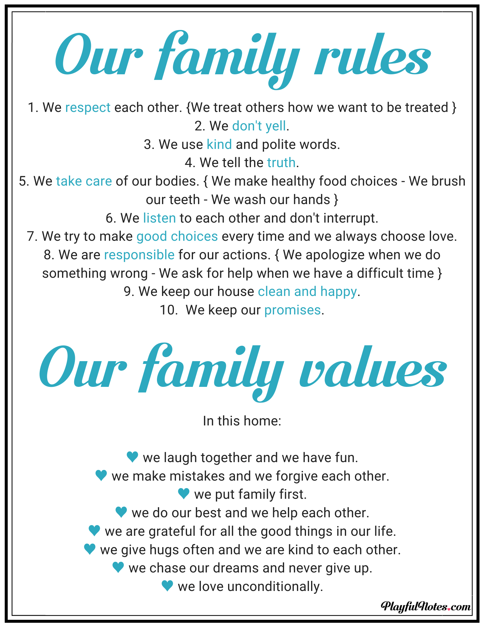 How To Create Family Rules That Kids Will Be Happy To