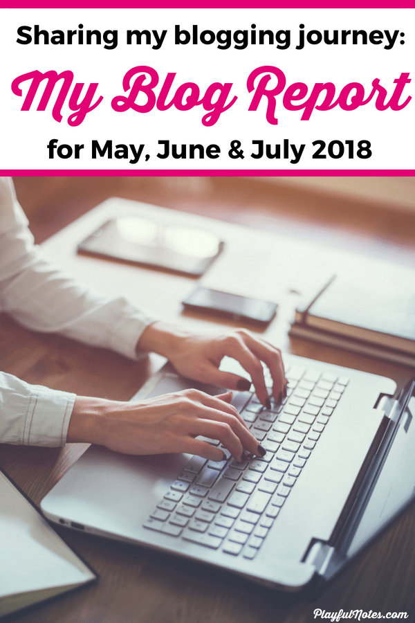 Blog report May, June & July 2018 -Behind the scenes of my blogging journey: It's amazing that people can transform blogging into a job and make money blogging! For me, this is a dream come true! Here are all the blogging tips that helped me grow my mom blog this month. | Blogging tips and ideas for bloggers #BloggingTips #MakeMoneyBlogging
