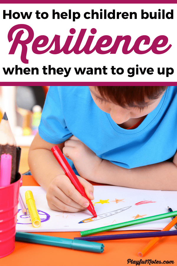 Discover 5 effective ways to teach kids resilience and raise children who will be able to overcome obstacles and not give up easily when things get hard! --- Resilience tips for kids | Growth mindset for kids #PositiveParenting #RaisingKids #GrowthMindset