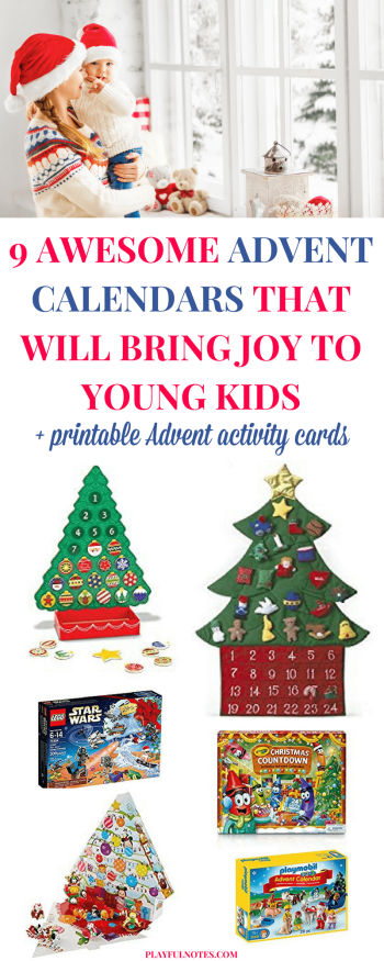Awesome Advent calendars for young kids: Are you looking for an awesome kids Advent calendar? Here is a list of great ideas that can bring a lot of joy to young kids! | Advent calendar ideas | Printable Christmas activity ideas #ChristmasForKids
