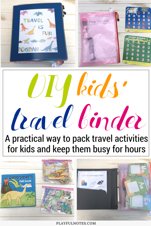 DIY travel binder for kids: An awesome idea that will keep kids busy for hours and will make traveling a lot easier and enjoyable for the whole family! | Travel activities for kids #FamilyTravel #TravelingWithKids