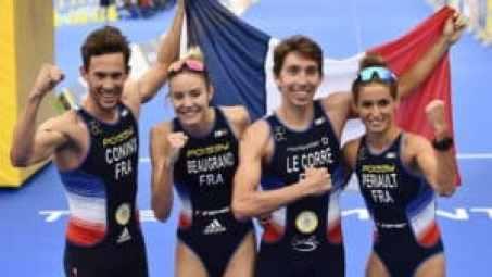 Le relais mixte français est champion d'Europe de triathlon