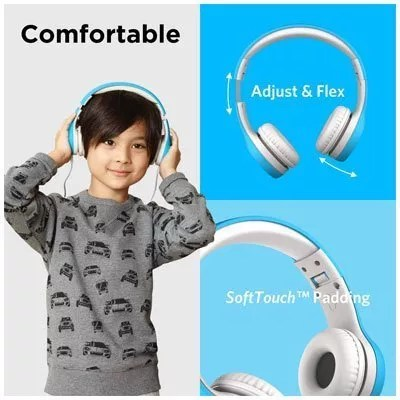 LilGadgets Kids Premium Volume Limited Wired Headphones with SharePort