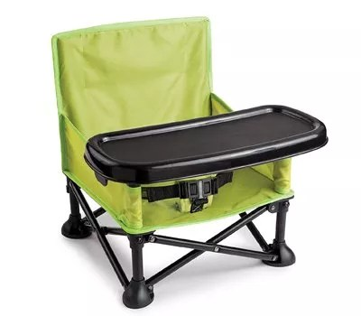 Summer Pop and Sit Portable Booster, Green Grey