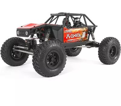 Axial Capra 1.9 Unlimited 4WD RC Rock Crawler Trail Buggy RTR with 2.4GHz 3-Channel Radio Battery and Charger Not Included 1 10 Scale, AXI03000T1 Red