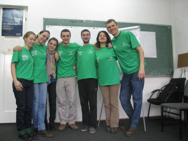 bogdan with his dreams for life team, febr 2013