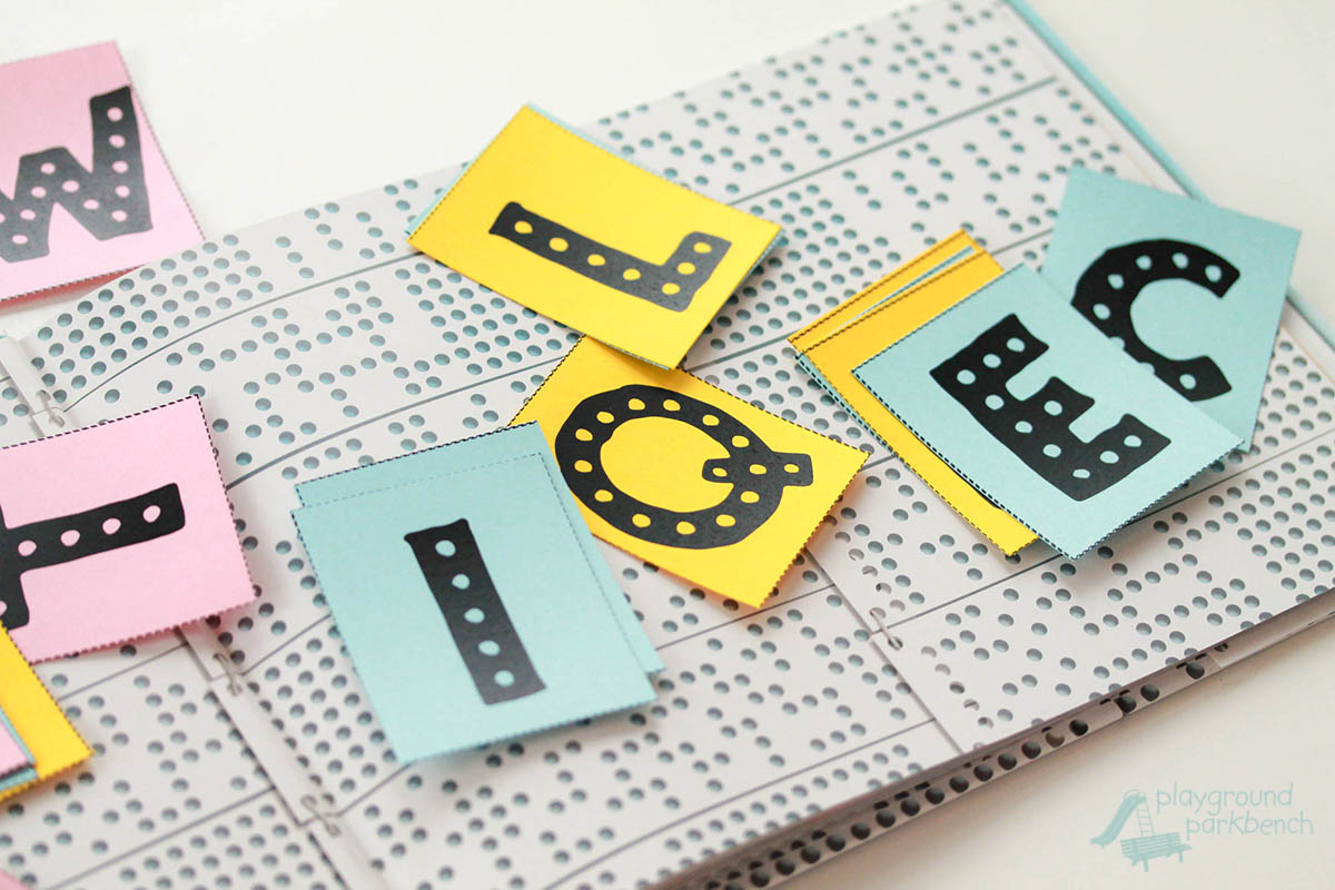 Abc Punch Cards For Alphabet Recognition