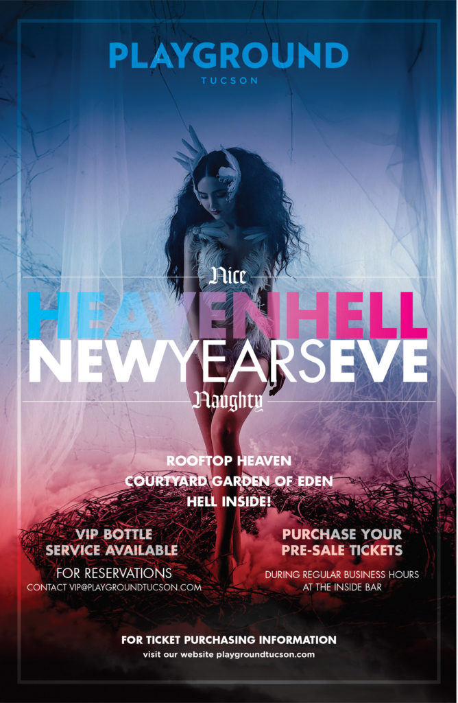 NEW YEAR'S EVE 2019 HEAVEN AND HELL AT PLAYGROUND BAR AND LOUNGE