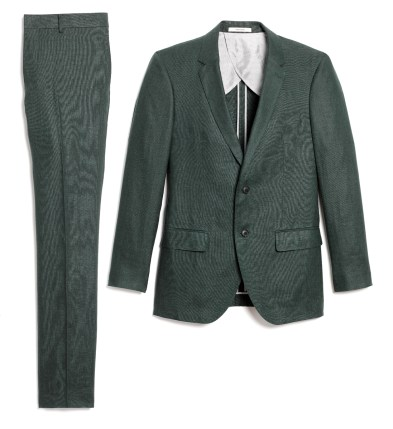 April - Grant Linen Suit in Eucalyptus