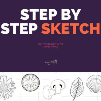 Step by Step Sketch for Seniors.This 11-page PDF comprises a step by step sketch guide of the orange, flower, mushroom. leaf and seashell. Each exercise comes with a pictorial step by step guide.