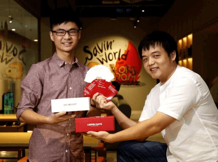 Daniel Tan Yong Heng (left), Founder, Limpeh Says