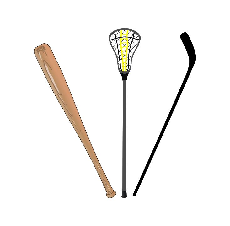 baseball lacrosse hockey