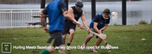 jersey shore gaa hurling demonstration game at baseball club