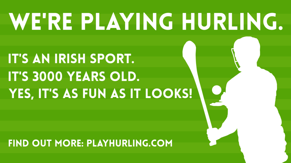 hurling recruitment poster pitch