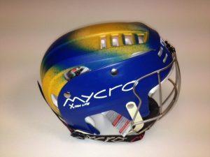 Hurling Helmet Mycro Blue yellow faded