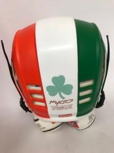 Hurling Helmet Mycro Irish Flag Tricolor Paddys day