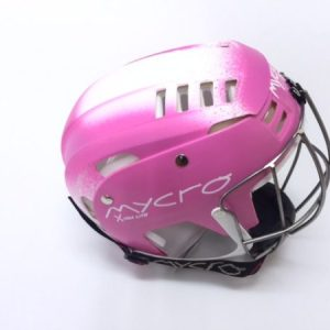 Hurling Helmet Mycro Pink white faded