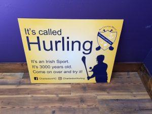 Charleston Hurling Club sign