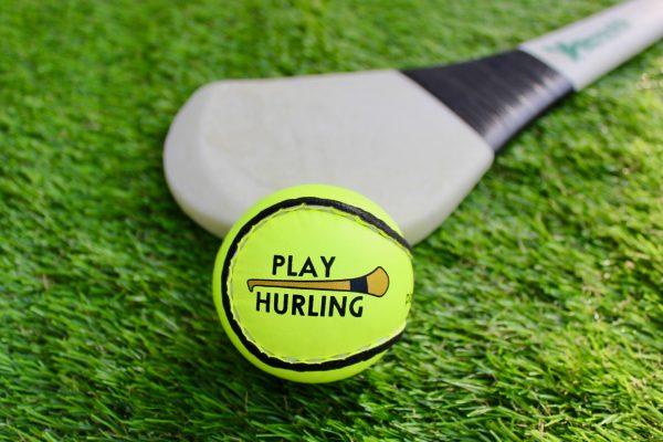 Championship Yellow Sliotars Size 5 Play Hurling logo
