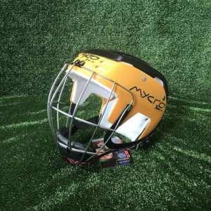Mycro Hurling Helmet Yellow Black Two Tone