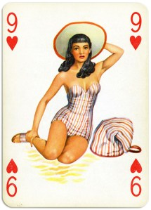 Pinup cards by Piatnik Baby Dolls from 1956 Nine of hearts