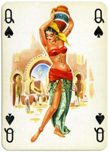 Pinup cards by Piatnik Baby Dolls from 1956 – Queen of spades