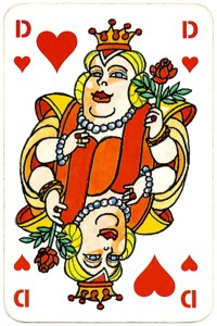Cartoon card King of hearts DSB Gods Designlab Kopenhagen