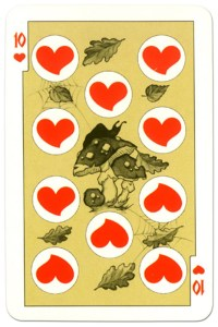 #PlayingCardsTop1000 – 10 of hearts dark power Russian fairy tale cards