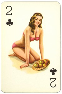 #PlayingCardsTop1000 – 2 of clubs Van Genechten Glamour Girls pinup cards