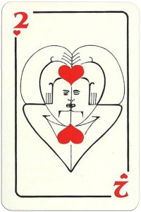 2 of hearts Modernist artistic style cards from Russia