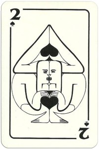 2 of spades Modernist artistic style cards from Russia