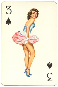 "3 of spades Van Genechten Glamour Girls pinup cards<span class=""rmp-archive-results""><i class=""star-highlight fa fa-star fa-fw""></i><i class=""star-highlight fa fa-star fa-fw""></i><i class=""star-highlight fa fa-star fa-fw""></i><i class=""fa fa-star fa-fw""></i><i class=""fa fa-star fa-fw""></i> <span>3 (1)</span></span>"