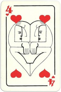 4 of hearts Modernist artistic style cards from Russia